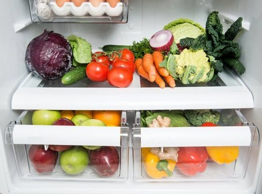storing fruit and veggies