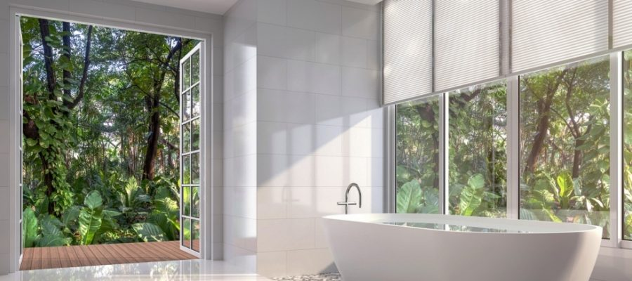 How is light affected by your bathroom windows